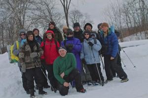 Winter hiking crew